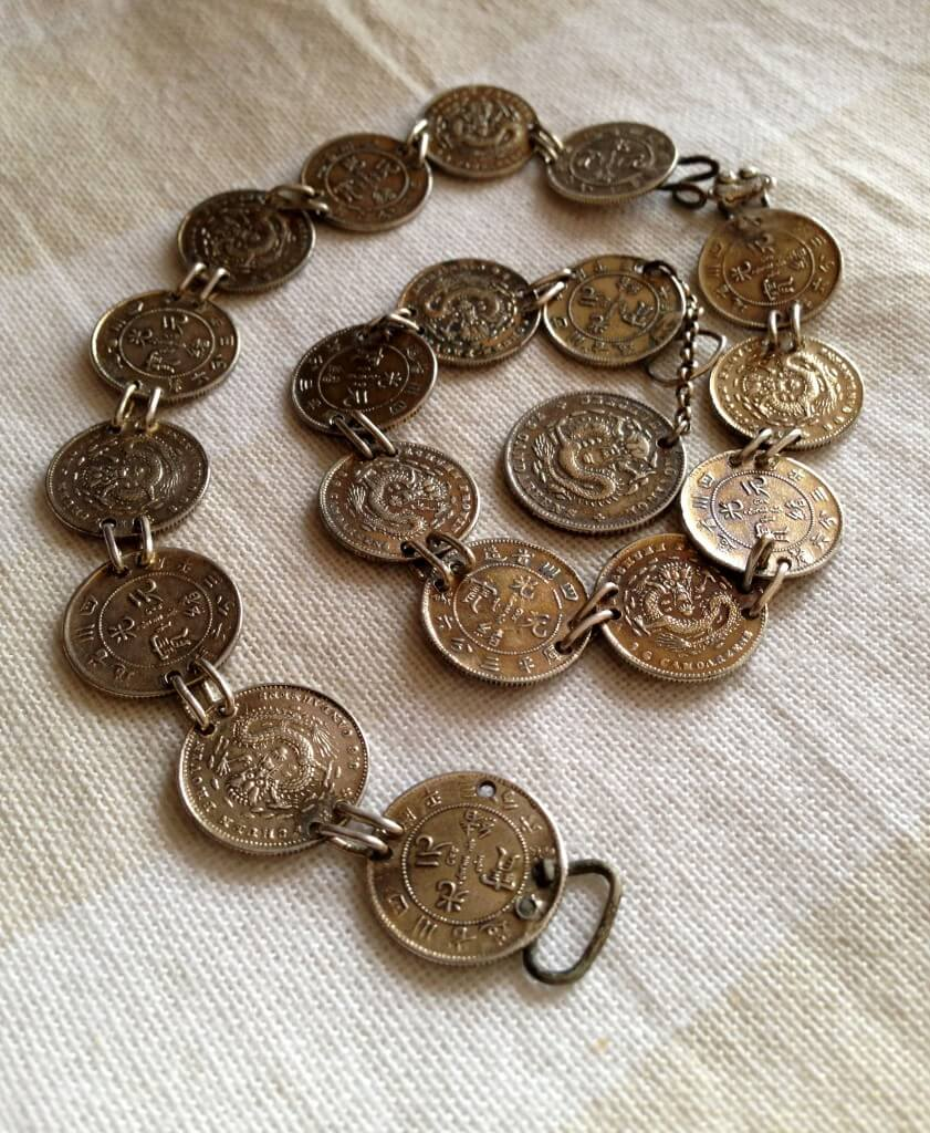 Silver coins bracelet from the Szechuan province